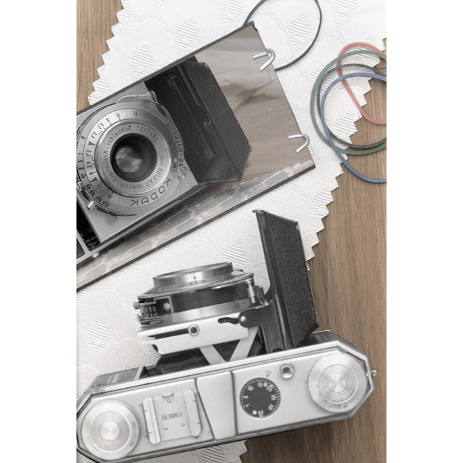 A Kodak Retina on Pattern 115935 with Rubber Bands